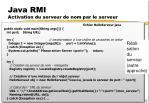 java rmi activation du serveur de nom par le serveur