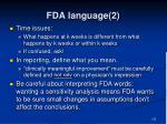 fda language 2