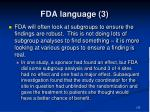 fda language 3