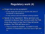 regulatory work 4