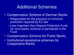 additional schemes