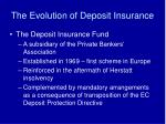 the evolution of deposit insurance