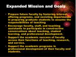 expanded mission and goals7