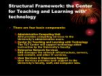 structural framework the center for teaching and learning with technology13