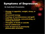 symptoms of depression dr cuala beyl s presentation