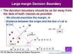 large margin decision boundary