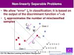 non linearly separable problems