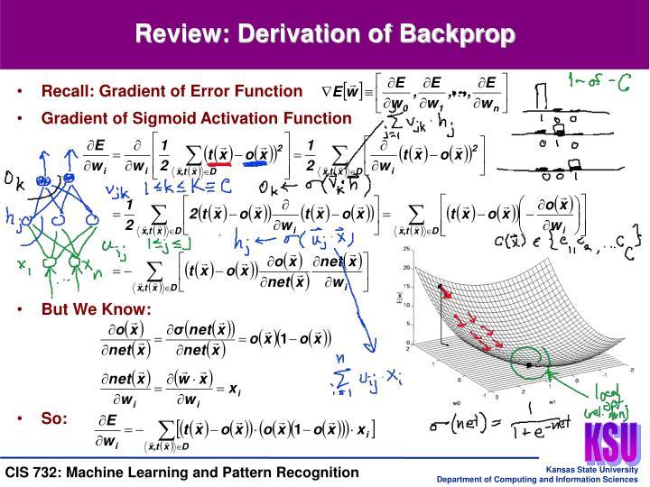 Recall: Gradient of Error Function