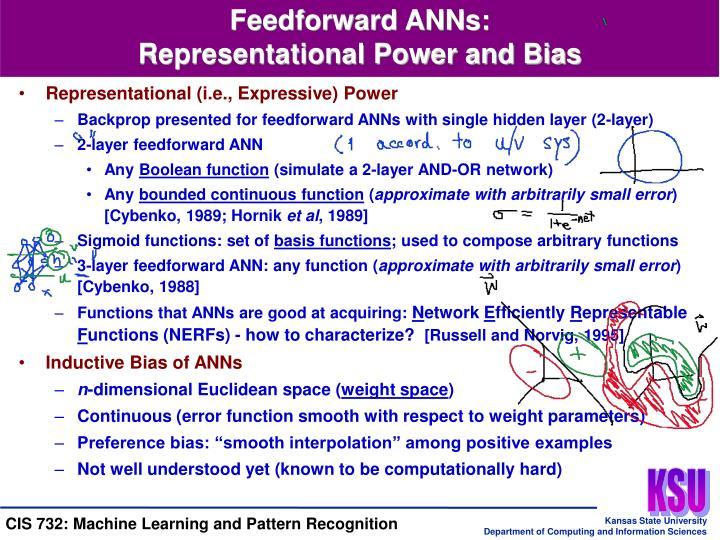 Feedforward ANNs:
