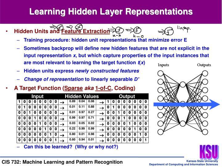 Learning Hidden Layer Representations