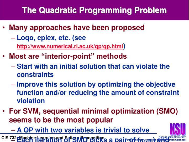 The Quadratic Programming Problem