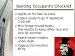 building occupant s checklist