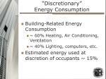 discretionary energy consumption