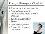 energy manager s checklist1