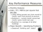 key performance measures1