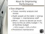 keys to improving performance