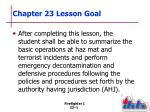 chapter 23 lesson goal
