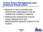 crime scene management and evidence preservation1