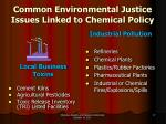 common environmental justice issues linked to chemical policy1