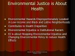 environmental justice is about health