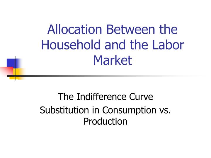 allocation between the household and the labor market n.