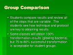group comparison