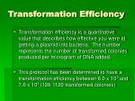 transformation efficiency
