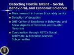 detecting hostile intent social behavioral and economic sciences