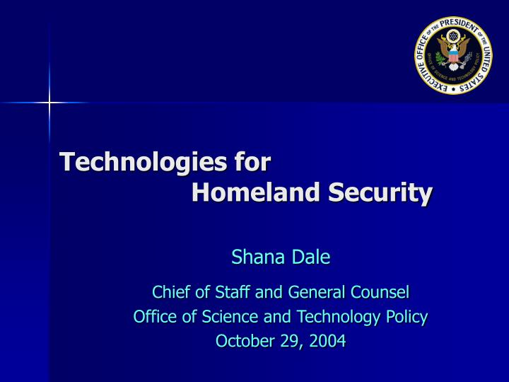 technologies for homeland security n.