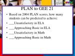 plan to gee 21