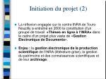 initiation du projet 2