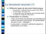 le document structur 1
