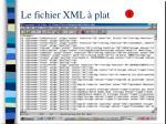 le fichier xml plat
