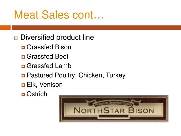 Meat Sales cont…