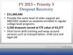 fy 2013 priority 3 dropout recovery