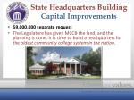 state headquarters building capital improvements