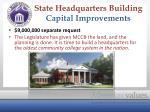 state headquarters building capital improvements