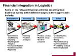 financial integration in logistics