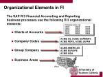 organizational elements in fi