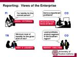 reporting views of the enterprise
