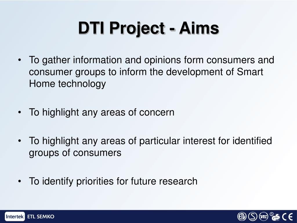 DTI Project - Aims