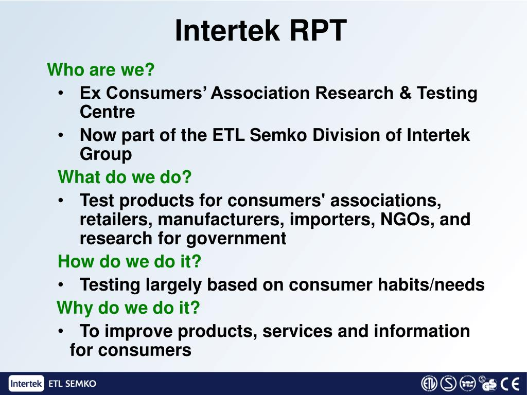 Intertek RPT