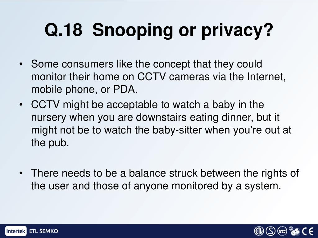Q.18  Snooping or privacy?