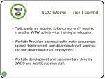 scc works tier i cont d