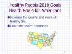 healthy people 2010 goals health goals for americans