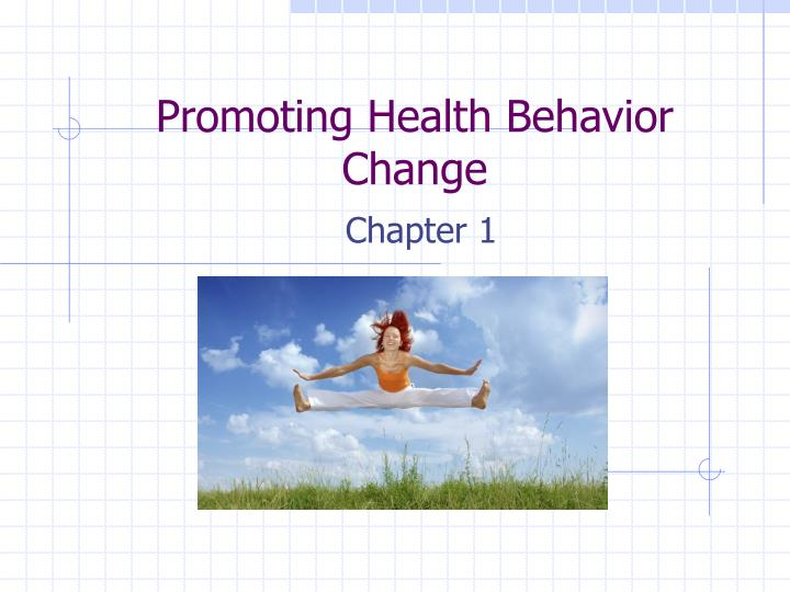 promoting health behavior change n.