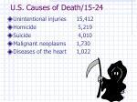u s causes of death 15 24