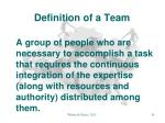definition of a team