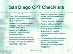 san diego cpt checklists