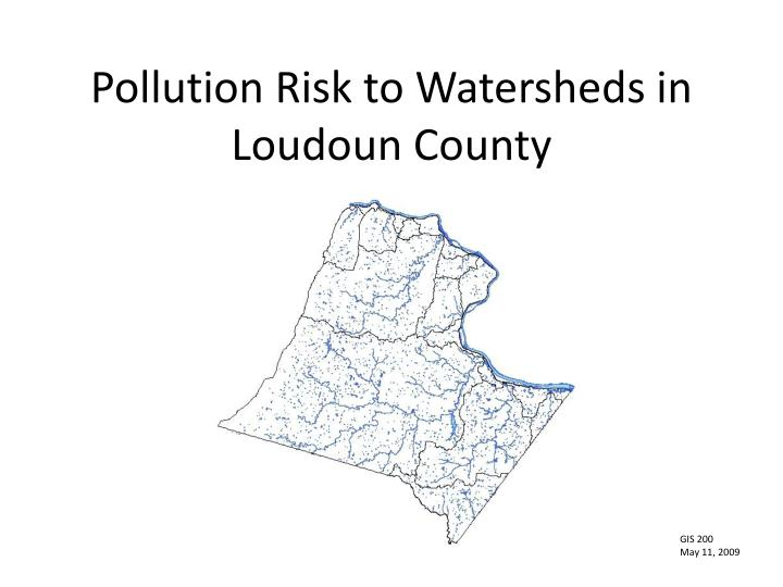 pollution risk to watersheds in loudoun county n.